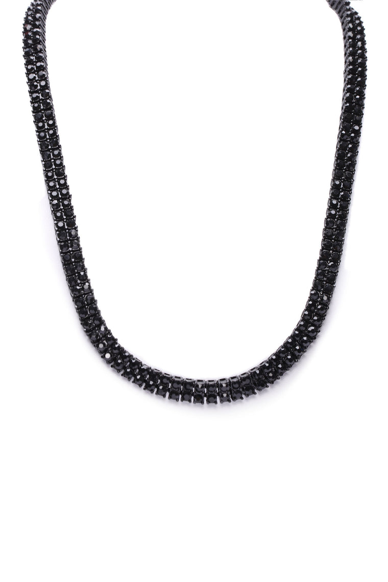 2 Better Than 1 Tennis Necklace - Black/Black