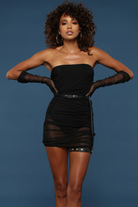 See Right Through Me Dress - Black