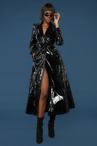 I Like Stunntin' Trench Jacket - Black