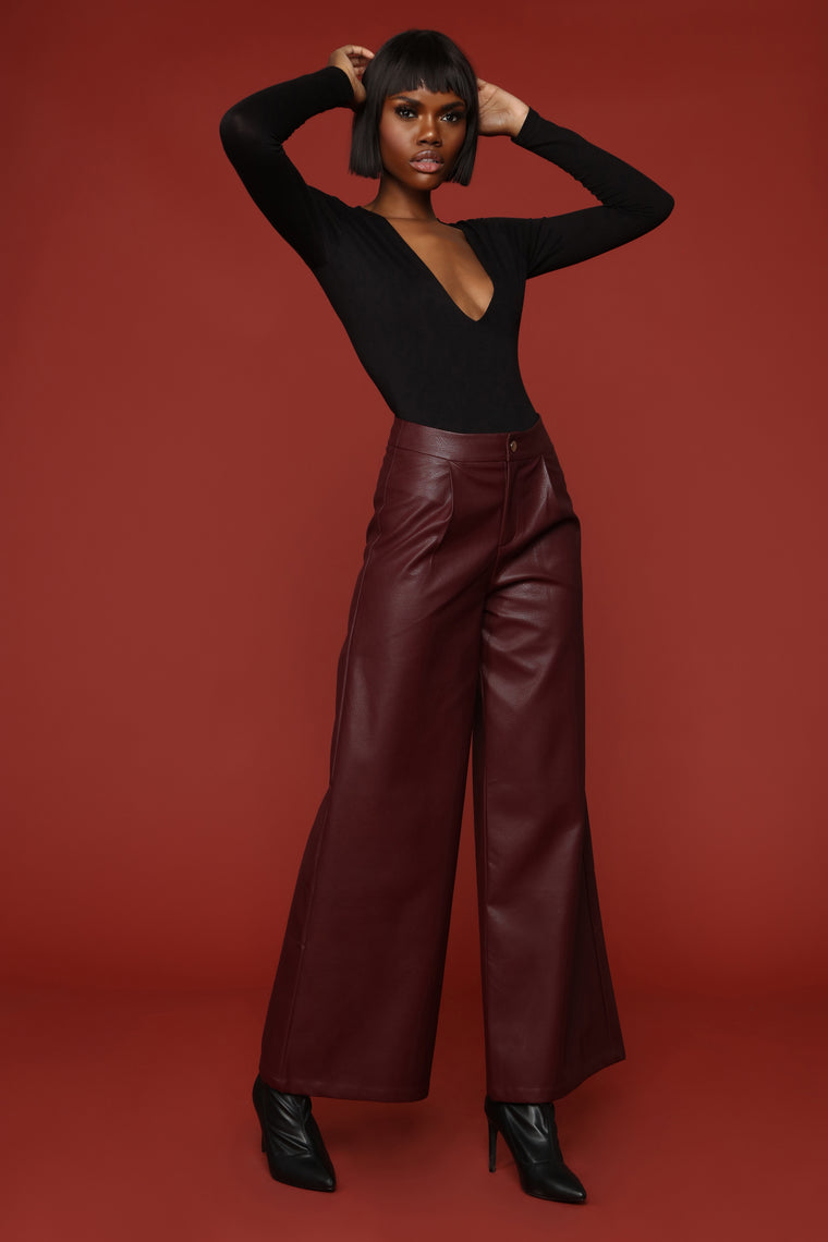 Emotional Gangster Trouser - Burgundy