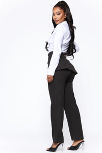 Call It What You Want Pant - Black/White