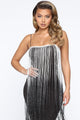 Feeling Fringy Mini Dress - Black