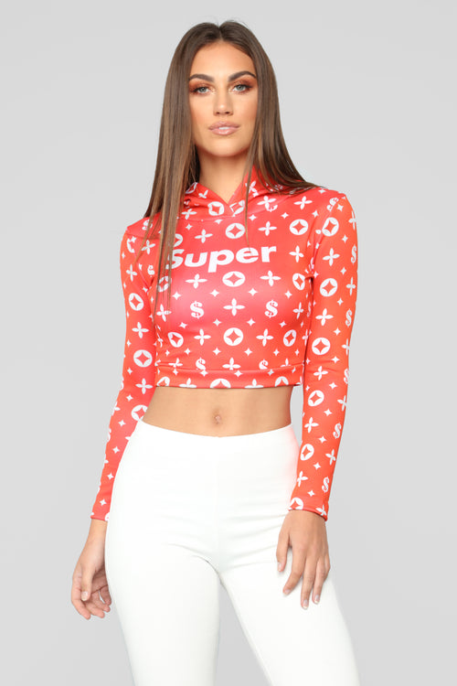 Super Scuba Sweatshirt - Red Combo