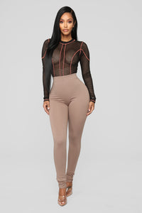 Almost Everyday Leggings - Mocha Angle 2