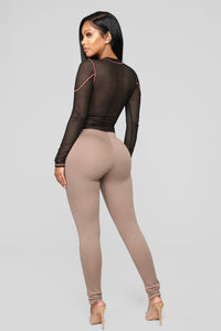 Almost Everyday Leggings - Mocha Angle 5