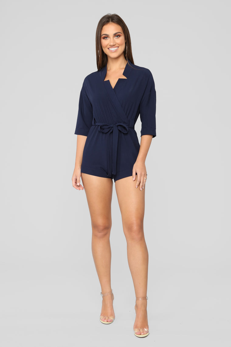 West Hollywood Romper - Navy