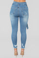 Wrap Yourself Around Me High Rise Jeans - Medium Blue Wash