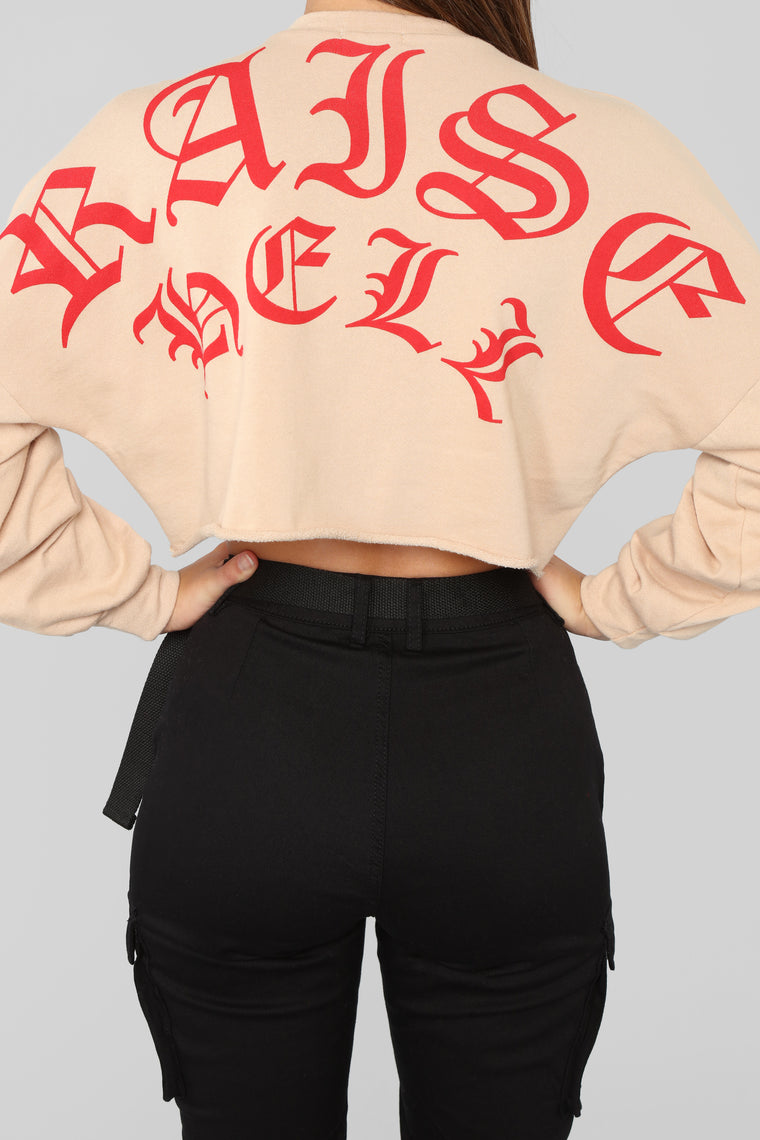 Raise Hell Sweatshirt - Tan