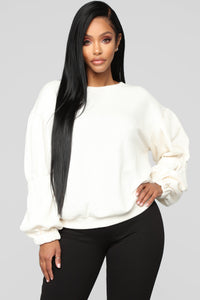 Not Your Ordinary Sweatshirt - Ivory Angle 1