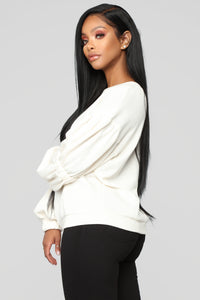 Not Your Ordinary Sweatshirt - Ivory Angle 3