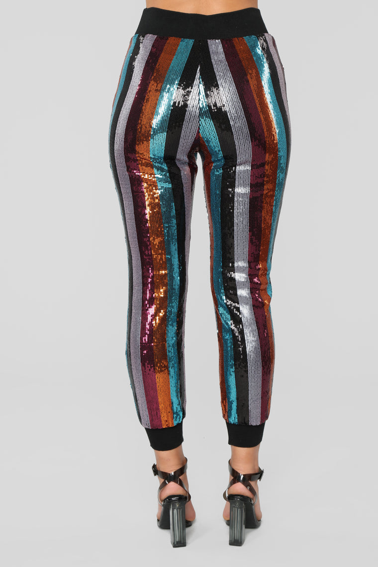 Don't Mess With My Mind Joggers - Black Multi