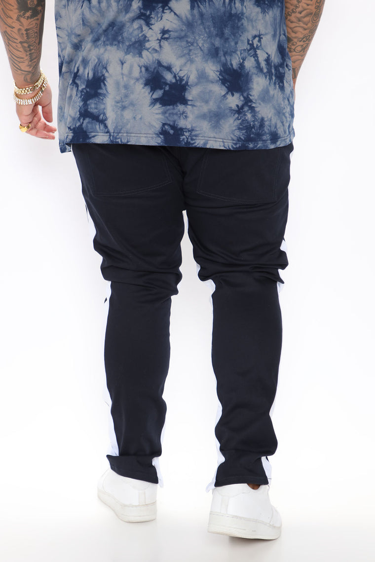 Travis Twill Joggers - Navy/White