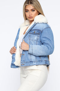 Go About Your Business Denim Jacket - Medium Wash