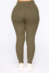 Cozy Nights Pant Set - Olive