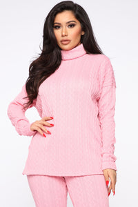 I'm The One Sweater Set - Pink