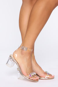 Bling All About It Heeled Sandals  - Gold