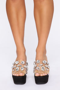 Such A Gem Heeled Sandals - Black