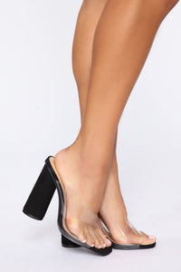 Move To The Side Heeled Sandals - Black