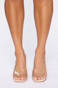 Move To The Side Heeled Sandals - Nude