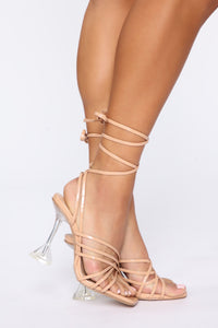 Be That Way Heeled Sandal - Nude