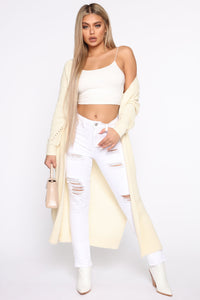 Picture Perfect Duster - Cream Angle 1