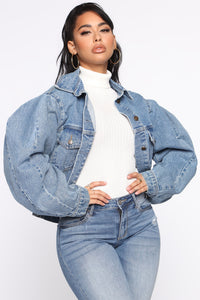 Keep My Word Denim Jacket - Blue