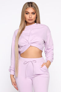 My Love Is Your Love Pullover - Lavender Angle 1