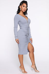 Candy Girl Midi Dress - Blue