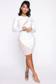 Bandage Me Up Midi Dress - White