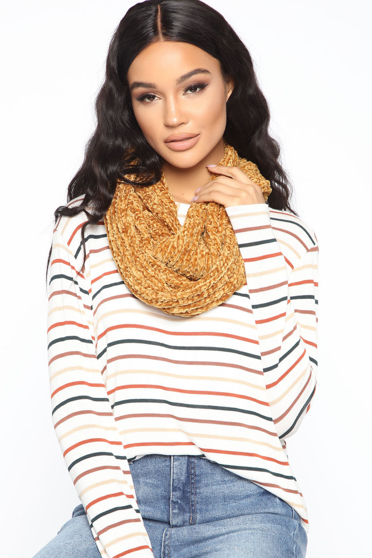 Always And Forever Infinity Scarf - Mustard