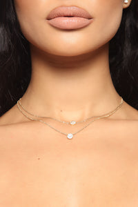 Dianna Dainty Layered Necklace - Gold Angle 1