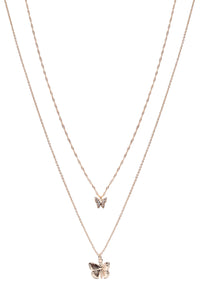 Mariposa Layered Necklace - Gold Angle 3