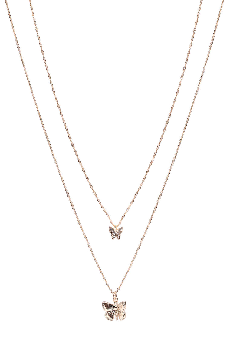 Mariposa Layered Necklace - Gold