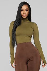 First Class Top - Olive Angle 1