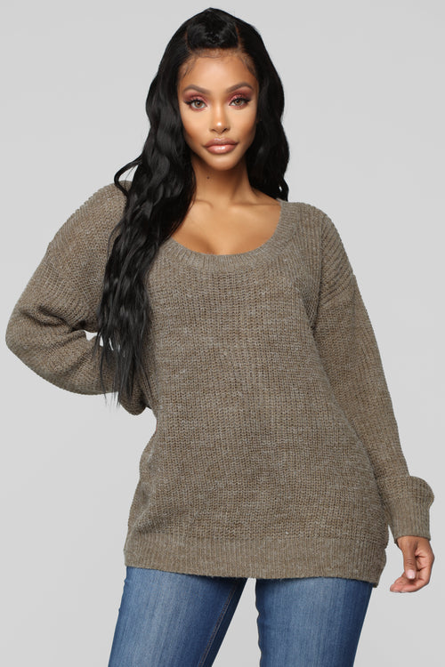 A Little Closer Sweater - Olive