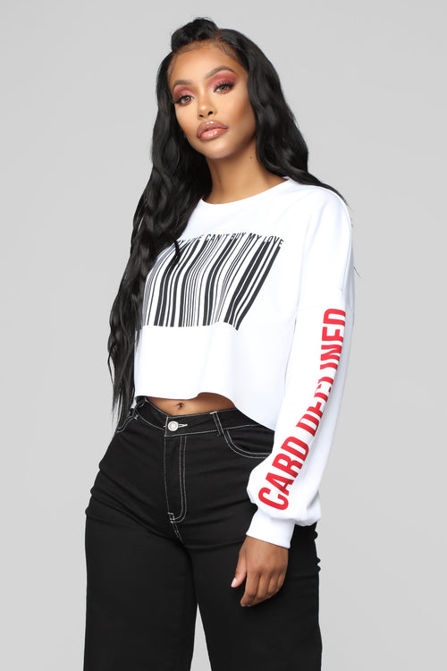 Can't Buy My Love Sweatshirt - White