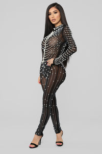 Made Of Pearls Jumpsuit - Black Angle 3