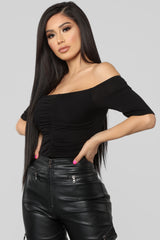 If You're Looking For Me Top   Black by Fashion Nova