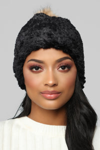 All Cozied Up Beanie - Black Angle 1