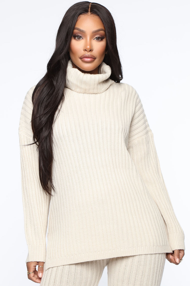 Cozier Than Ever Sweater Set - Taupe
