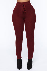 Running From You Sweater Set - Burgundy Angle 6