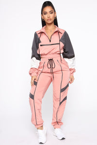 Making A Statement Jogger Set - Mauve