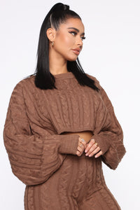 Meet Me Half Way Sweater - Mocha