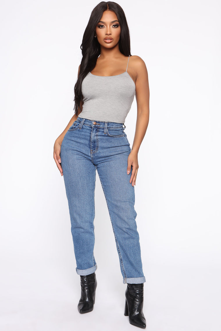 Kiki Cropped Top - Heather Grey