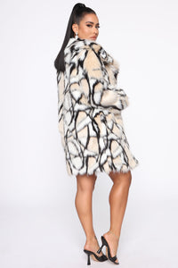 Don't Bother Me Faux Fur Coat - Multi Color Angle 4
