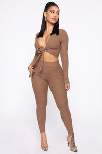 Grace Sweater Set - Mocha Angle 1