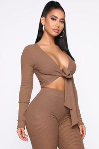 Grace Sweater Set - Mocha Angle 4
