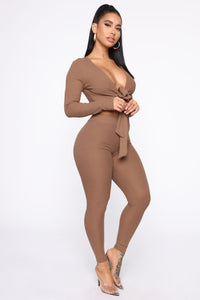 Grace Sweater Set - Mocha Angle 3