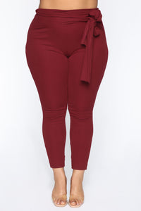 Just My Chill Tie Front Set - Burgundy Angle 14