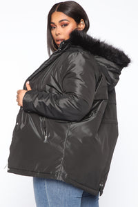 One To Watch Anorak Jacket - Black Angle 7